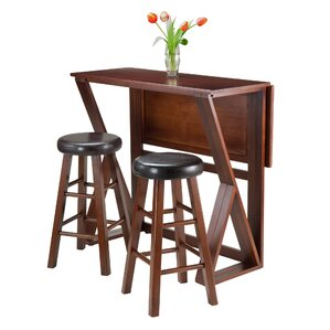 Harrington 3 Piece Pub Table Set by Luxur..