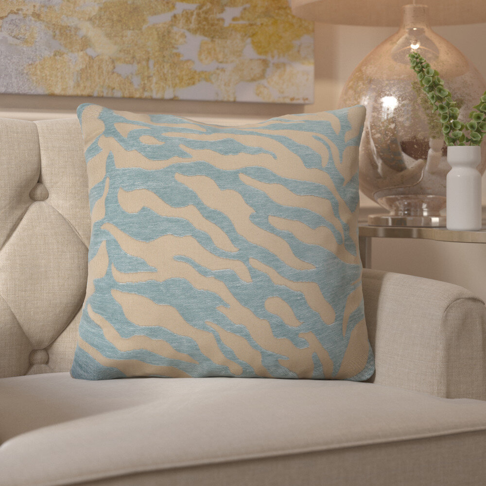 Kaler Eye Catching Zebra Throw Pillow