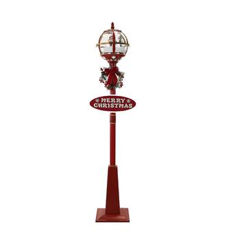 The Holiday Aisle Muriel Pine Potted 60 Lamp Post Wayfair