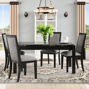 Gabriel 5 Piece Solid Wood Dining Set