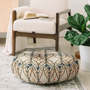 Marta Barragan Camarasa Pattern Mosaic Art Deco Round Floor Pillow