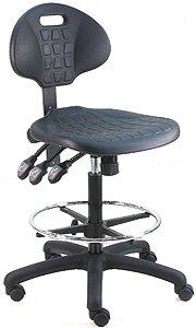 Cleanroom Lab Upholstered Swivel Drafting Chair
