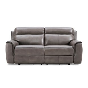 Arlene Genuine Leather 2 Seater Reclining Sofa By Ebern Designs