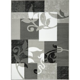 Savings Albion Gray/White Area Rug By Winston Porter