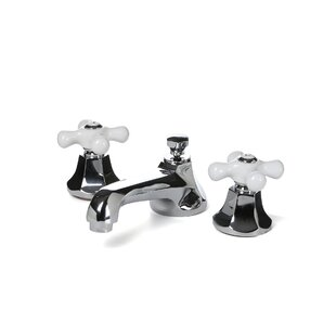 Metropolitan Widespread Bathroom Faucet with Double Porcelain Cross Handles By Elements of Design