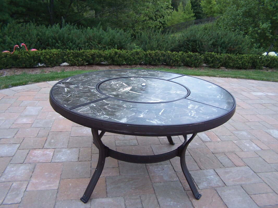 Oakland living stone art 44 chat coffee table reviews wayfair stone art 44 chat coffee table geotapseo Images