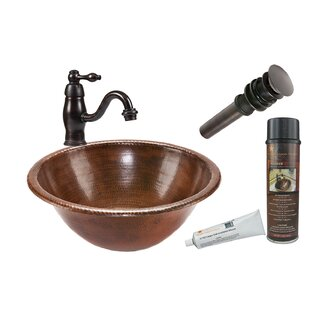 Best Metal Circular Drop-In Bathroom Sink with Faucet ByPremier Copper Products