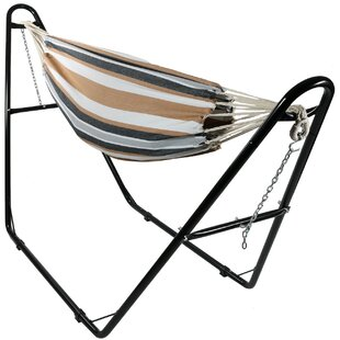 Poirier Jumbo Double Hammock With Stand by Bay Isle Home 2019 Sale