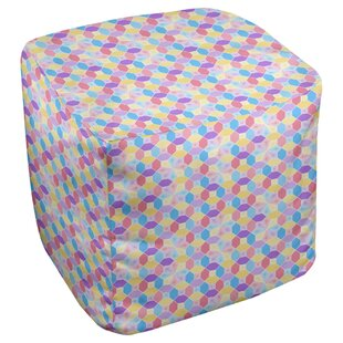Leffel Stained Cube Ottoman by Ebern Designs