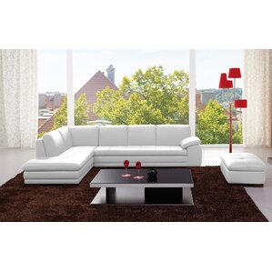 Lyndsey Leather Sectional by Orren Ellis