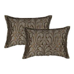 Canyon Embossed Luxury Decorative Lumbar Pillow (Set of 2)