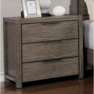 Gracie Oaks Elowen 3 Drawer Nightstand