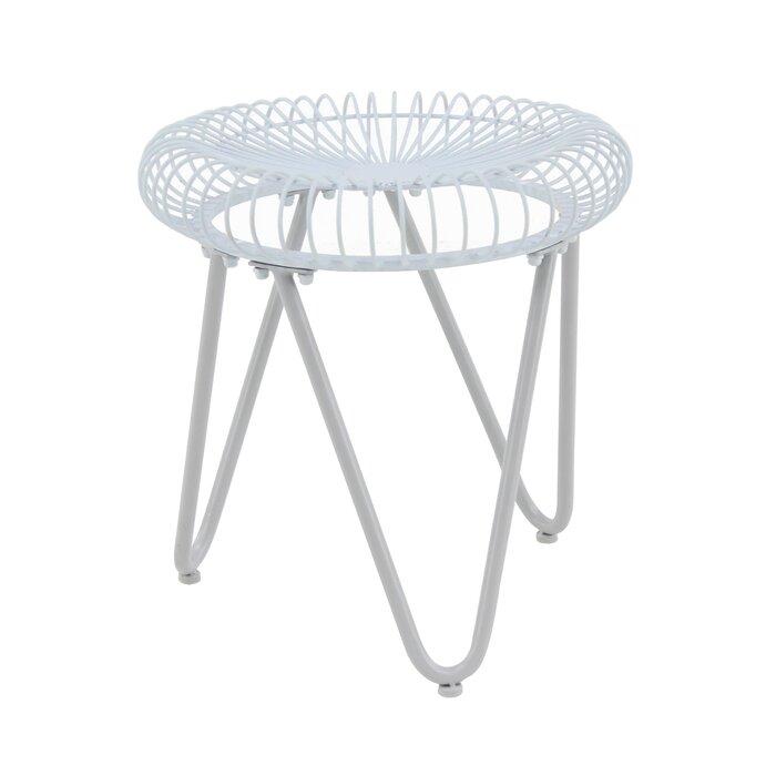 Swell Gilpin Contemporary Round Iron Garden Stool Evergreenethics Interior Chair Design Evergreenethicsorg