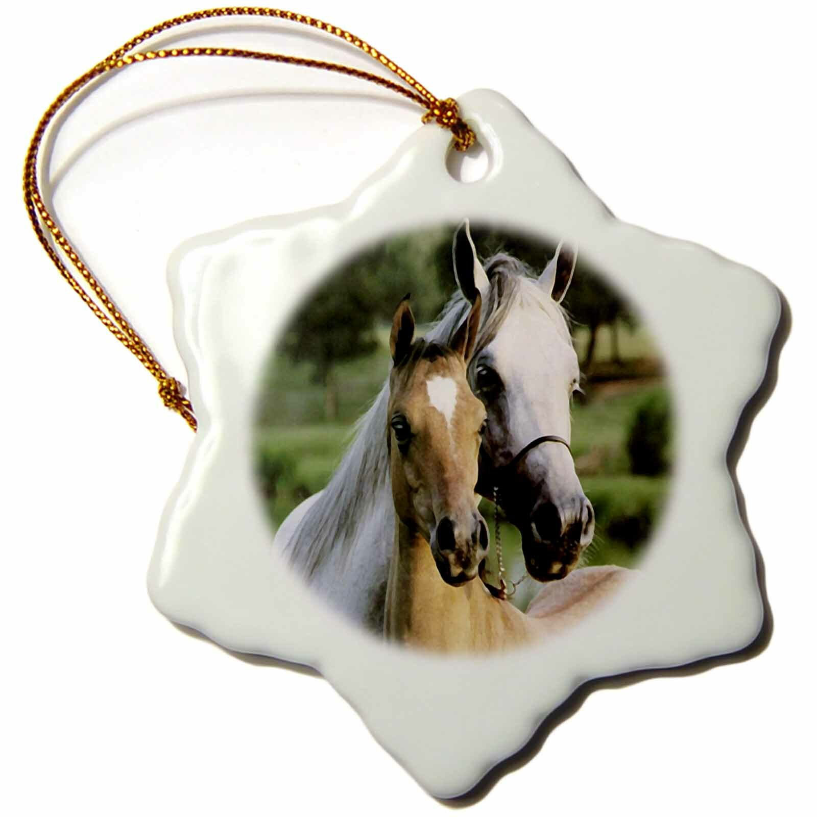 The Holiday Aisle Mother And Baby Horse Holiday Shaped Ornament Wayfair