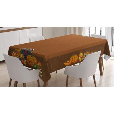 Thanksgiving Basket Harvest Pumpkin Turkey Apple Pie Fruit Vegetables Desert Dinner Tabletop East Urban Home -  7982C38061AF43B29139A72080C8305B