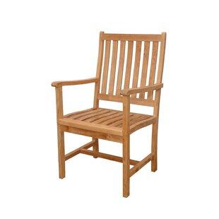 Wilshire Teak Patio Dining Chair by Anderson Teak