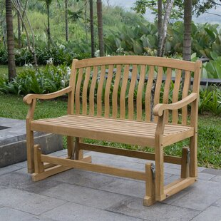Fine Cynthia Teak Glider Bench Caraccident5 Cool Chair Designs And Ideas Caraccident5Info