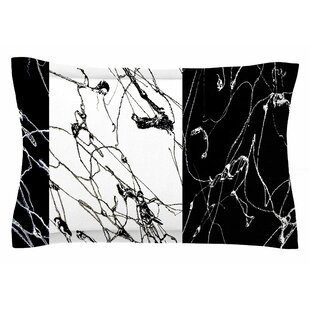 Nina May 'Neutra Splatter' Mixed Media Sham by East Urban Home Cool