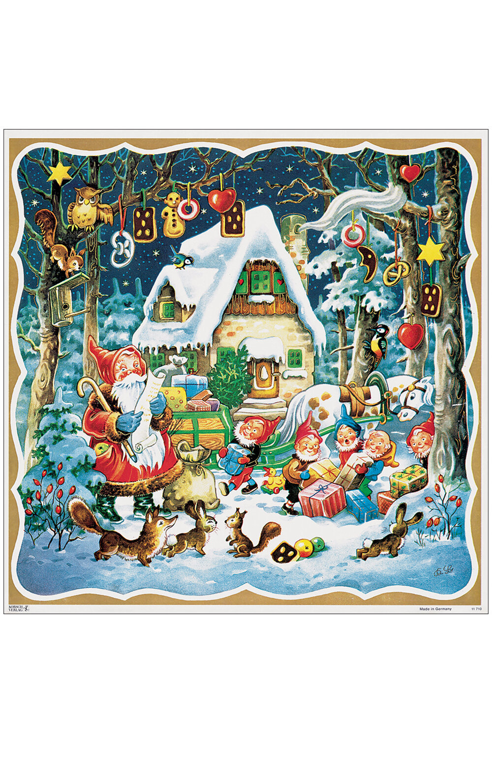 The Holiday Aisle Raci Santa Elves Angels With Gingerbread Motif Advent Calendar Wayfair