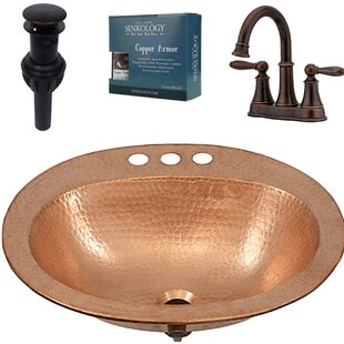 Sinkology Kelvin and Courant All-in-One Drop-In Metal Oval Drop-In Bathroom Sink with Faucet