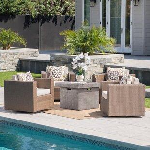 Latitude Run Schiller 5 Piece Conversation Set with Cushions