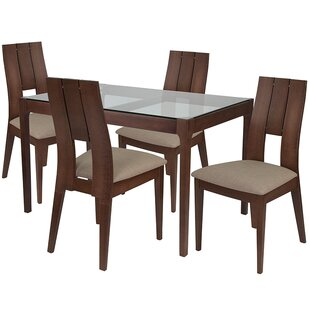 Carys 5 Piece Dining Set by Ebern Designs