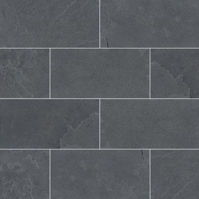 Msi Montauk 3 X 6 Slate Subway Tile In Gray Reviews Wayfair