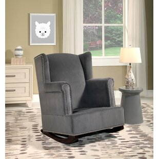 Darby Home Co Abasi Wingback Rocking Chair