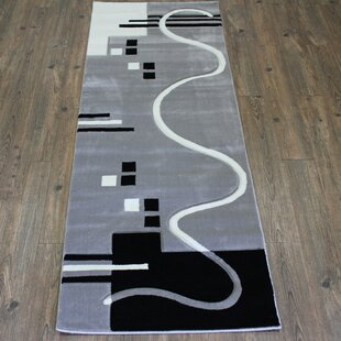 Shop For Geo Gray/Black Area Rug By Rug Factory Plus