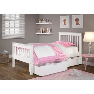 Abney Twin Slat Bed with Drawer