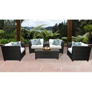 TK Classics Barbados 6 Piece Rattan Sofa Set with Cushions