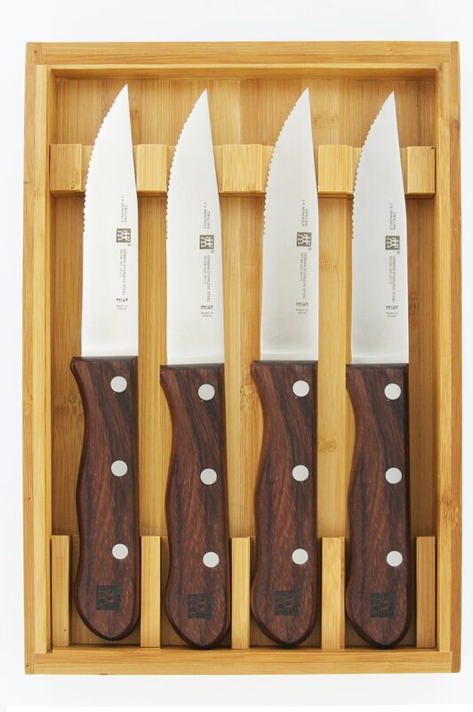 zwilling ja henckels steakhouse steak knife set with storage case