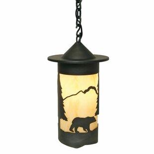 Ber Bear 1-Light Cylinder Pendant by Loon Peak