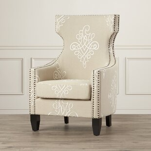 Willa Arlo Interiors Benedita Embroidered Linen Wingback Chair
