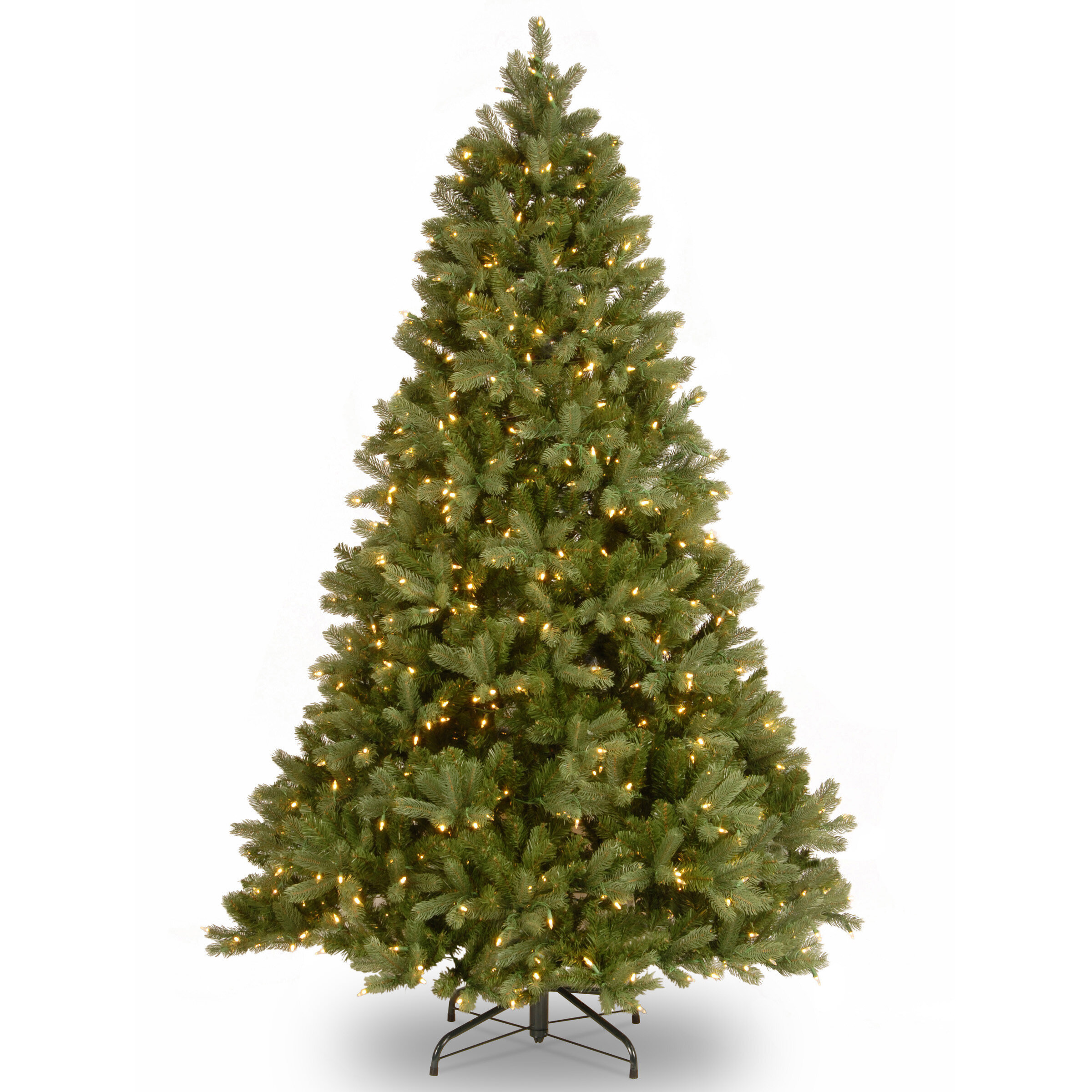 Christmas Tree Colors.Fir 7 5 Green Artificial Christmas Tree With 750 Dual Color Led Lights With Stand