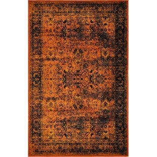 Best Price Neuilly Terracotta/Black Area Rug By Mistana