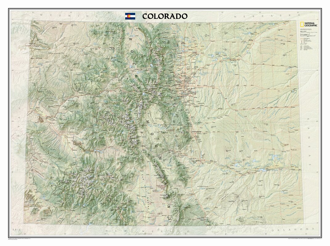 National Geographic Maps Colorado State Wall Map  Reviews Wayfair - Washington dc popout map