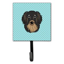 Checkerboard Longhair Dachshund Leash Holder and Wall Hook by Caroline's Treasures