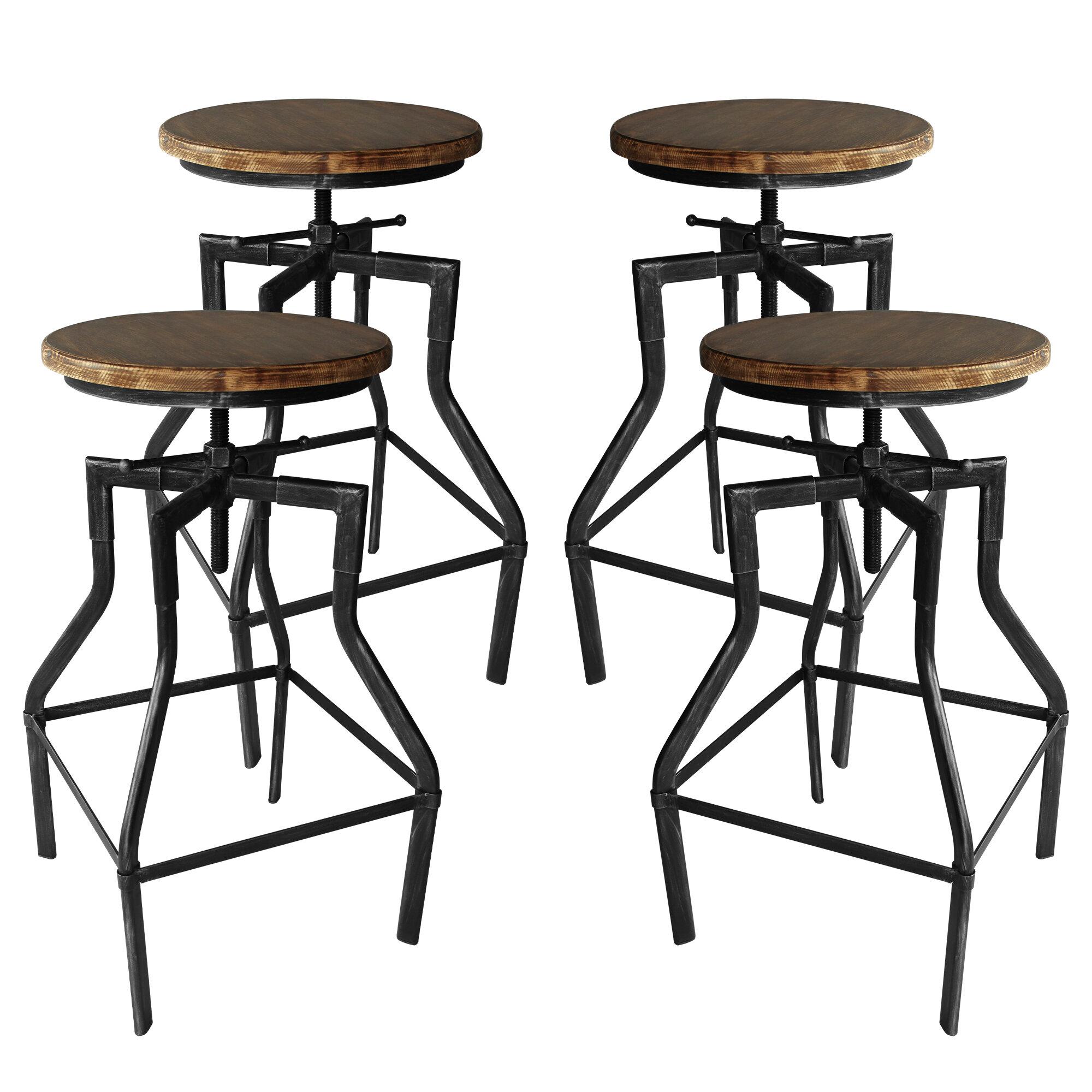 Astonishing Hogle Adjustable Height Bar Stool Set Of 4 Gamerscity Chair Design For Home Gamerscityorg