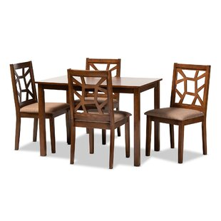 Westberg Fabric Upholstered 5 Piece Dining Set
