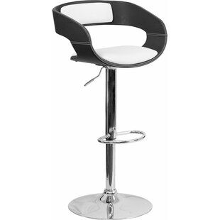 Crotty Adjustable Height Swivel Bar Stool George Oliver