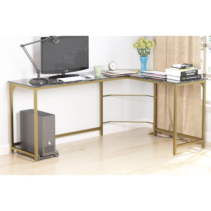 Gold Flamingo Rory Reversible L-Shape Desk