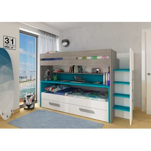 Maxon Twin Bunk Bed with Drawers and Bookcase by Zoomie Kids