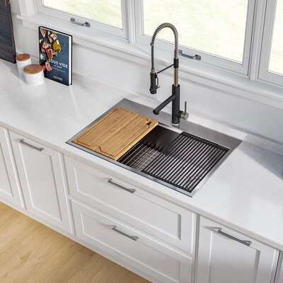 Ellis Double Basin Undermount Kitchen Sink Faucet