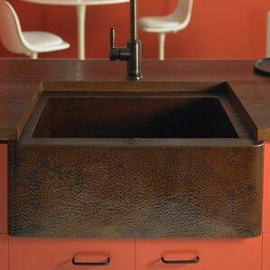 Bathroom Sink 25 X 19 antique copper farmhouse sink | wayfair