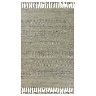 Homespun Sedona Hand-Knotted Wool/Cotton Oatmeal Area Rug