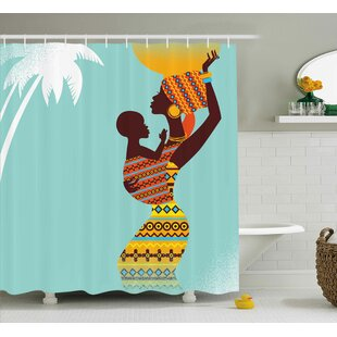 Houston African Ethnic Mother Print Single Shower Curtain
