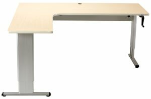 Maciejewski L-Shape Standing Desk with Banded Edge
