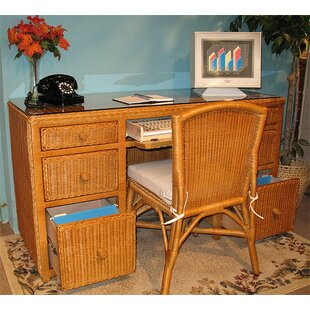 Wicker Warehouse 2-Piece Standard Desk Office Suite