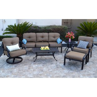 Nola 6 Piece Sunbrella Sofa Set With Cushions